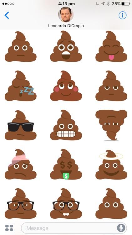 Poo Emoji : Cute Animated Poop Emoji Stickers screenshot-3