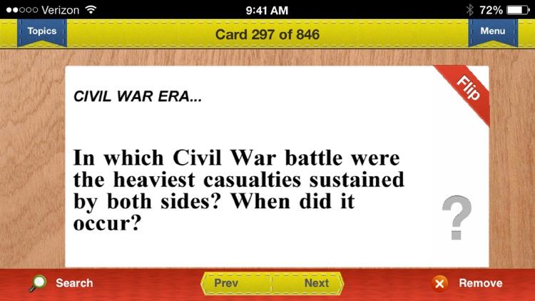 AP US & World History Prep Flashcards Exambusters screenshot-3
