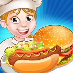Crazy Street Diner - Chef's Food Cooking Fever