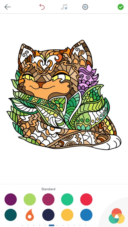 Cat Coloring Pages for Adults screenshot-3