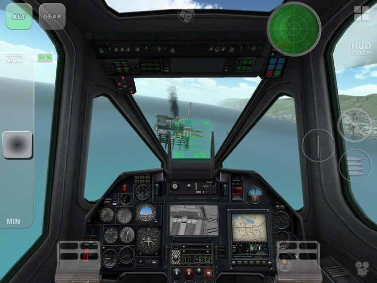 Black Shark HD - Combat Gunship Flight Simulator screenshot-3