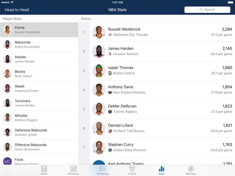 Pro Basketball Live for iPad screenshot-3