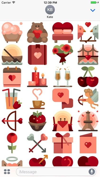 Love Stickers - Romance for Valentine's Day 2017 screenshot-3