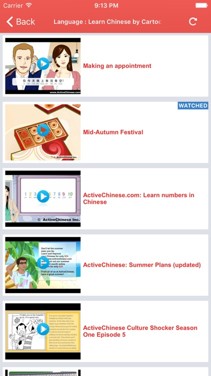 Chinese Video Lessons - Watch and Learn