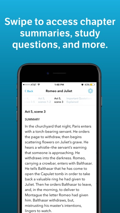 Screenshot 2 for SparkNotes's iPhone app'