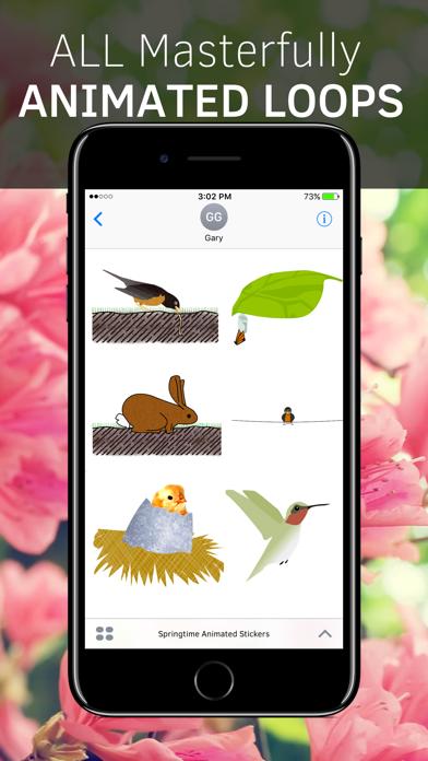 Springtime Animated Stickers screenshot 3