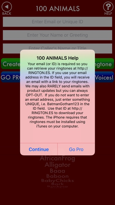 100ANIMALS + RINGTONES Animal Ring Tone Sounds screenshot three