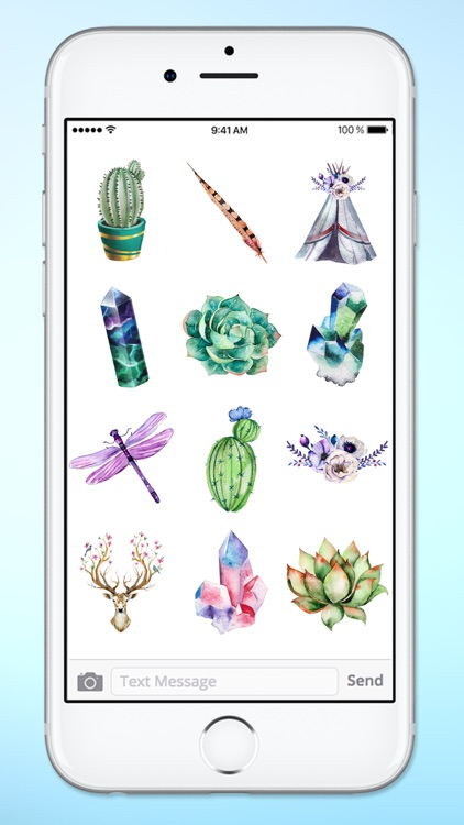 Watercolor Boho Life Sticker Pack