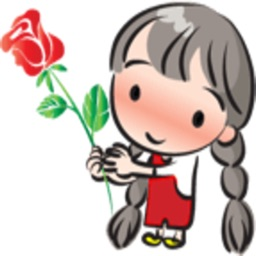 Little Long Braids Girl stickers by wenpei