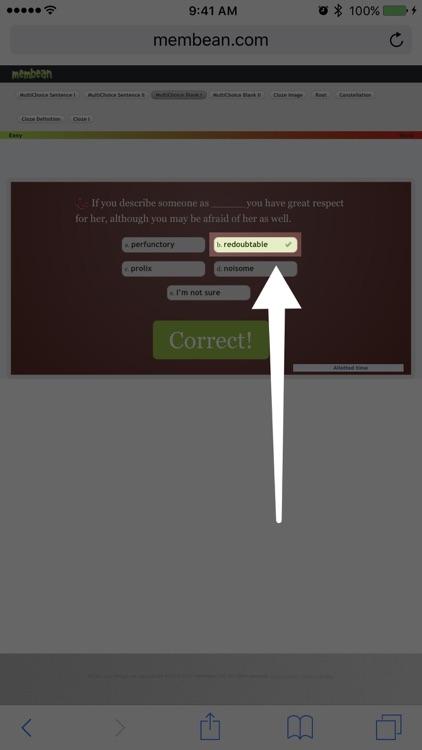 Membean Hint screenshot-4