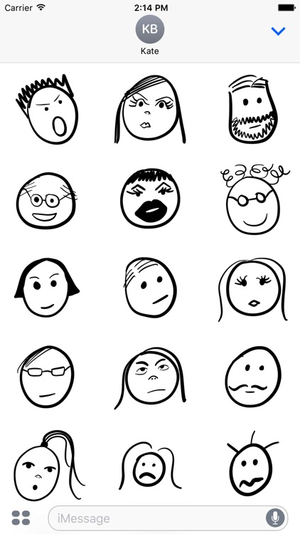 Doodly Faces Animated