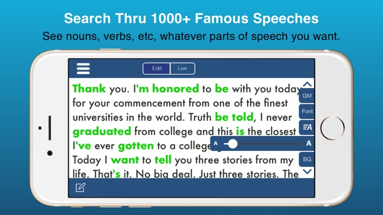 Public Speaking Teleprompter Presenter Audio/Video screenshot-0