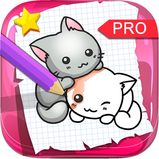 Draw The Cats & Kittens On Coloring Books Pro iOS App