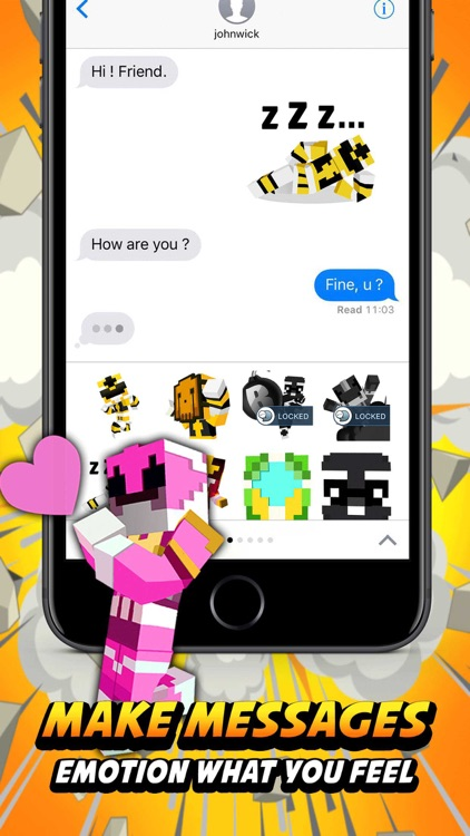 Bomber rangers 3D Stickers for iMessage