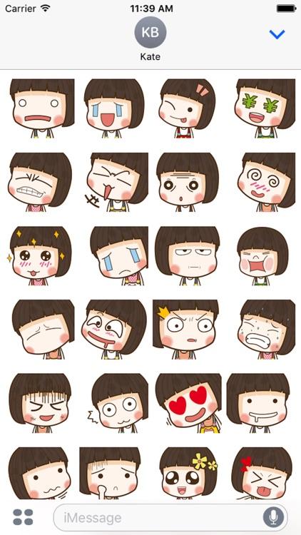 Hana Cute Girl Emoji