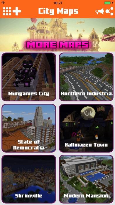 Epic City Maps for Minecraft PE Pocket Edition app image