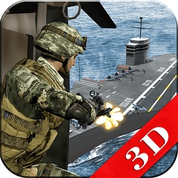 Warship Under Air Naval Attack