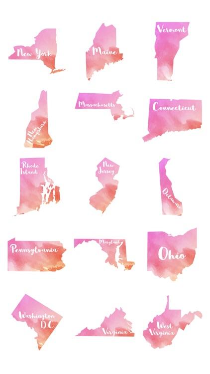 U.S. States Sticker Pack