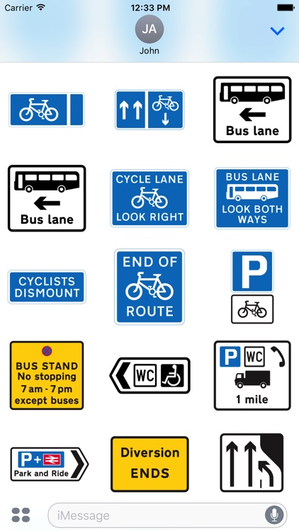 200 UK Highway & Traffic Signs Stickers screenshot-4