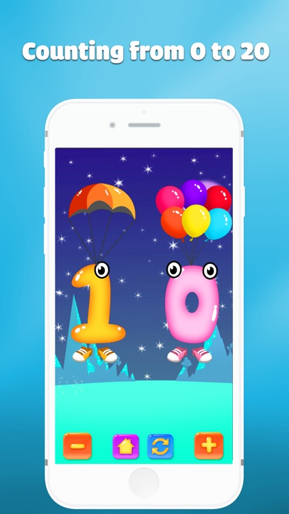 Number counting for kids - toddler preschool game
