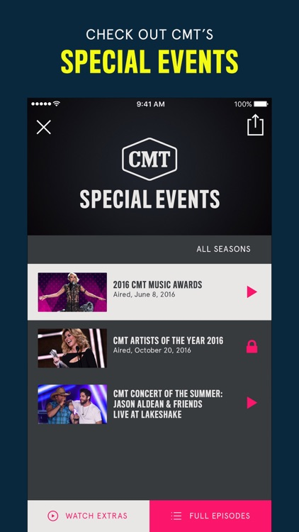 CMT – Watch TV Shows, Videos, Country & More screenshot-3