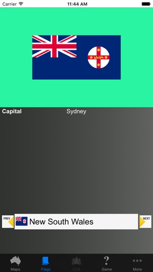 Australia State Flags, Maps, Info