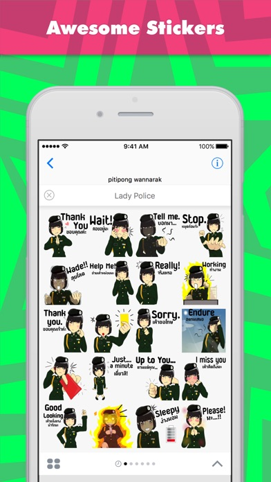 Lady Police stickers by wpitipong