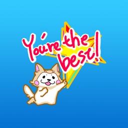Yogi the naughty dog stickers