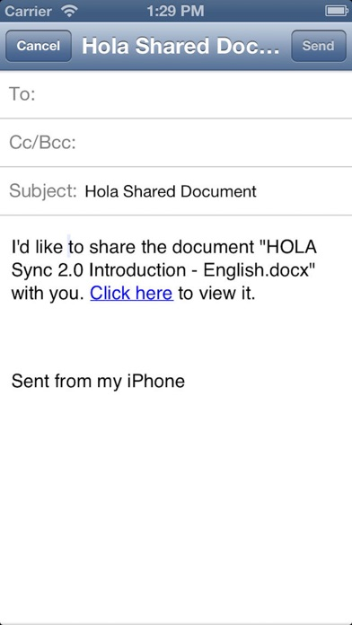 英蓝HOLA Screenshot on iOS