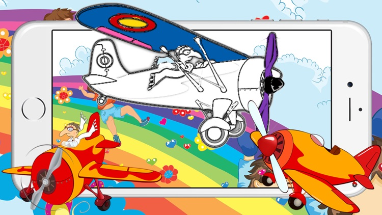 Painting Games for Kids - Aeroplane Coloring Pages by Chatchai ...