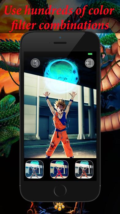 Editor de fotos para Dragon Ball Z: pelo de diosCaptura de pantalla de3