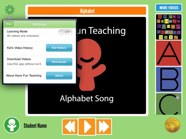 have fun learning abc song