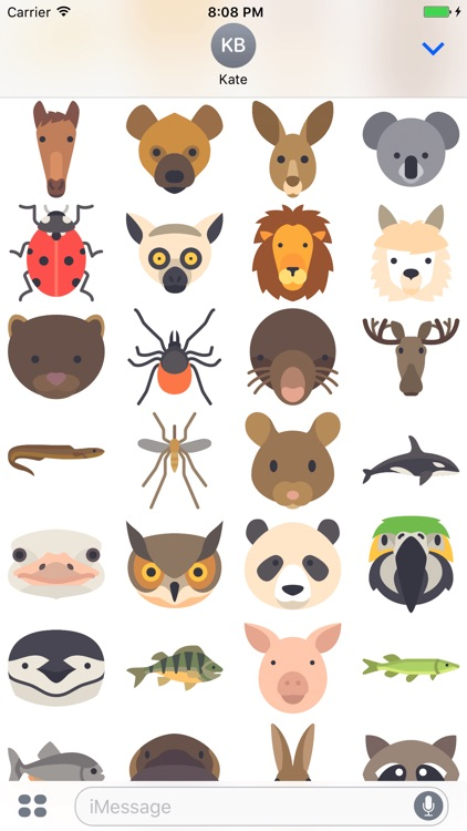 Animals Stickers - Cute Emojis screenshot-3