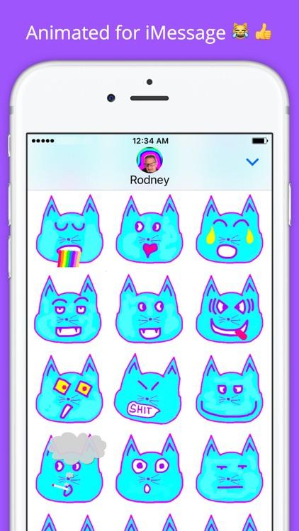 Emoji Kitty - Animated Cat Emojis Stickers screenshot-3