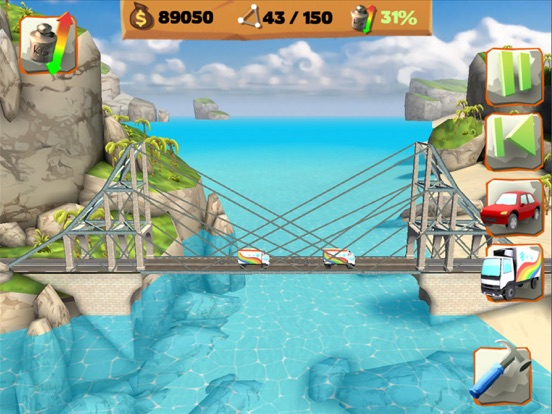 Bridge Constructor Playground на iPad
