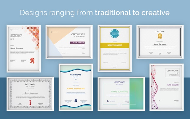 certificate templates for pages