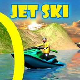 3D Jet Ski Drive Sim Rings Water Play