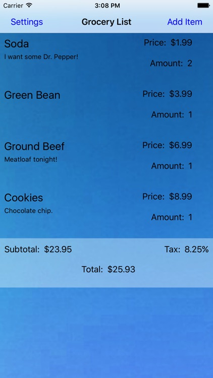 Grocery List - Best Shopping App - Healthy Food