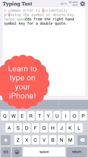 TapTyping - typing trainer on the App Store
