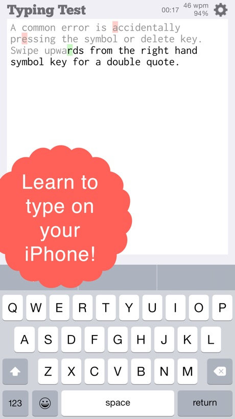 TapTyping – typing trainer
