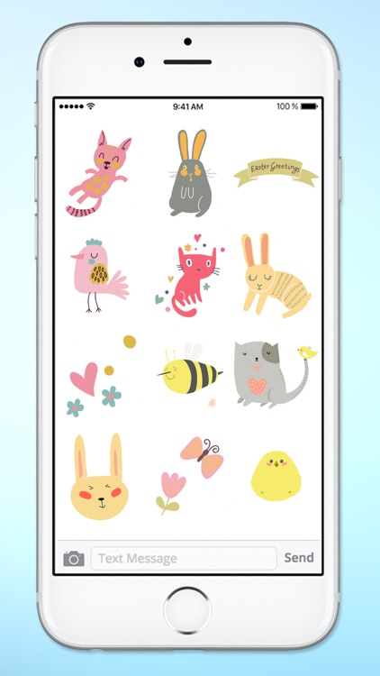 Spring and Easter Cats and Bunnies Sticker Pack
