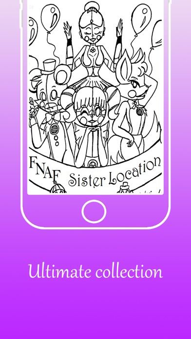 Coloring Pages For FNAF Sister Location Screenshot On IOS