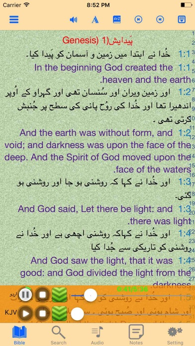 Urdu-English Bilingual Audio Holy Bible Offline screenshot one