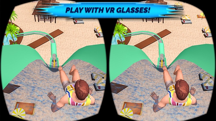 VR Beach Water Sliding - Water stunt & ride Pro