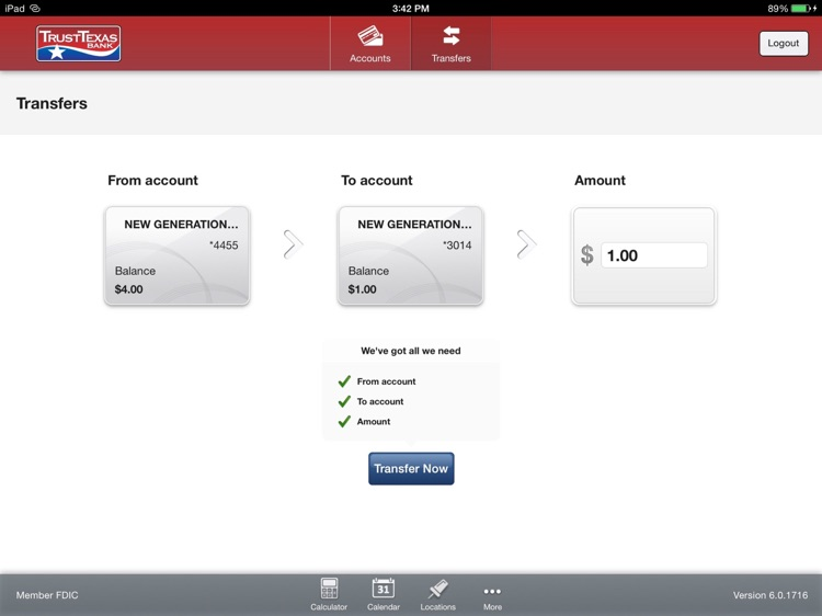 TrustTexas Bank Tablet Banking screenshot-3