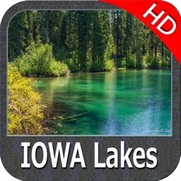 IOWA Lakes HD GPS tracker fishing spot Map offline