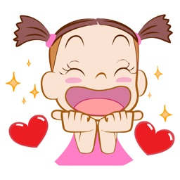 Nice Girl Animated Emoji Stickers