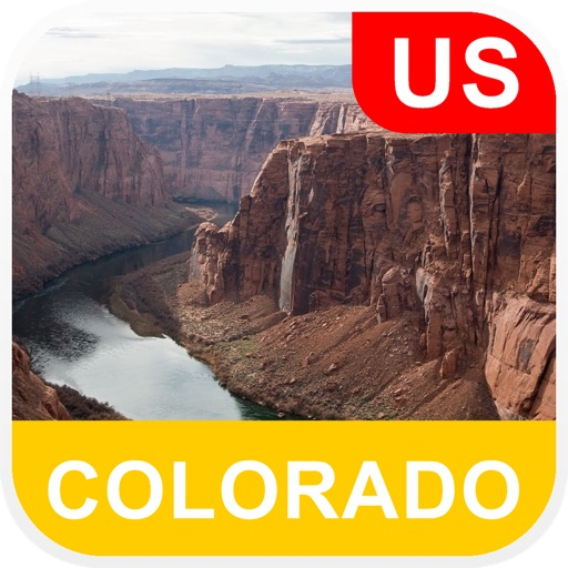 Colorado, USA Offline Map - PLACE STARS