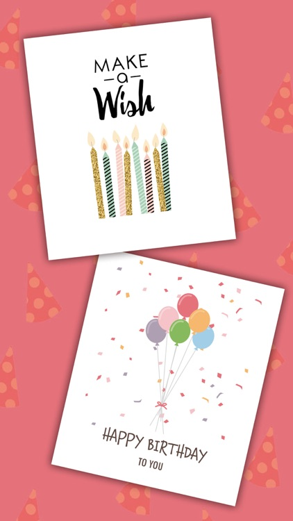 Birthday greeting cards with stickers – Photo edit