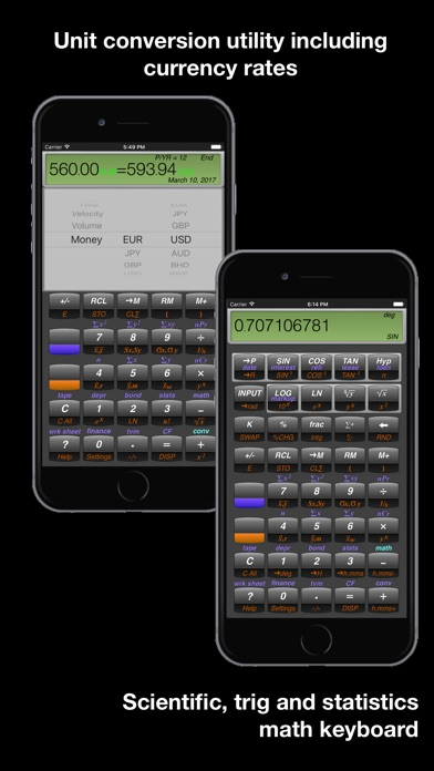 Screenshot for 10BII Calc HD in United States App Store
